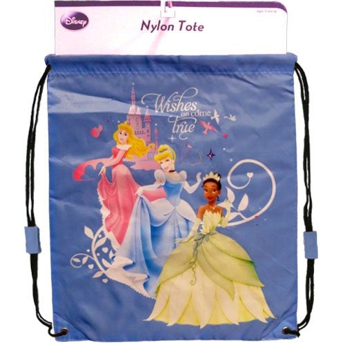Disney Tiana Aurora Cinderella Wishes Come True Nylon Tote Bag - SHOPME.COM