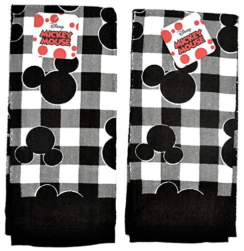 Disney Dish Towels Mickey & Minnie Mouse Print 2 Piece Set Kitchen Cloths