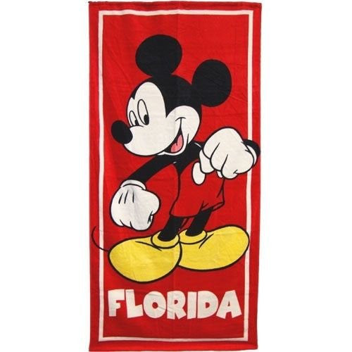 Disney Beach Towel, Mickey Mouse - SHOPME.COM