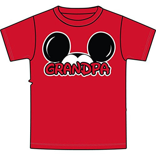 Disney Adult Plus Size Mens T-Shirt Grandpa Family Tee Red - SHOPME.COM
