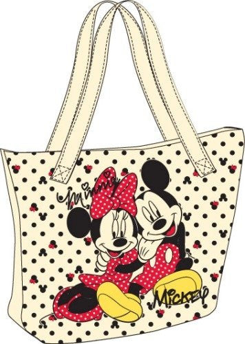 Mickey and Minnie Mouse Canvas Tote Bag - SHOPME.COM