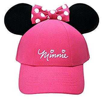 Disney Ladies Cap with Minnie Mouse Ears (Minnie Pink) - SHOPME.COM