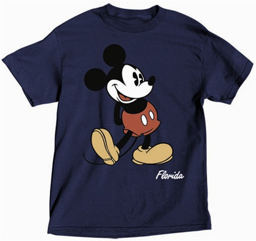 Disney T-shirt Mickey Mouse Head to Toe, Navy - SHOPME.COM