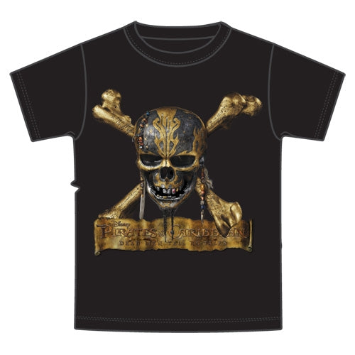 Adult Unisex Pirates of the Caribbean Dead Men Tell No Tales Skull T-Shirt - SHOPME.COM