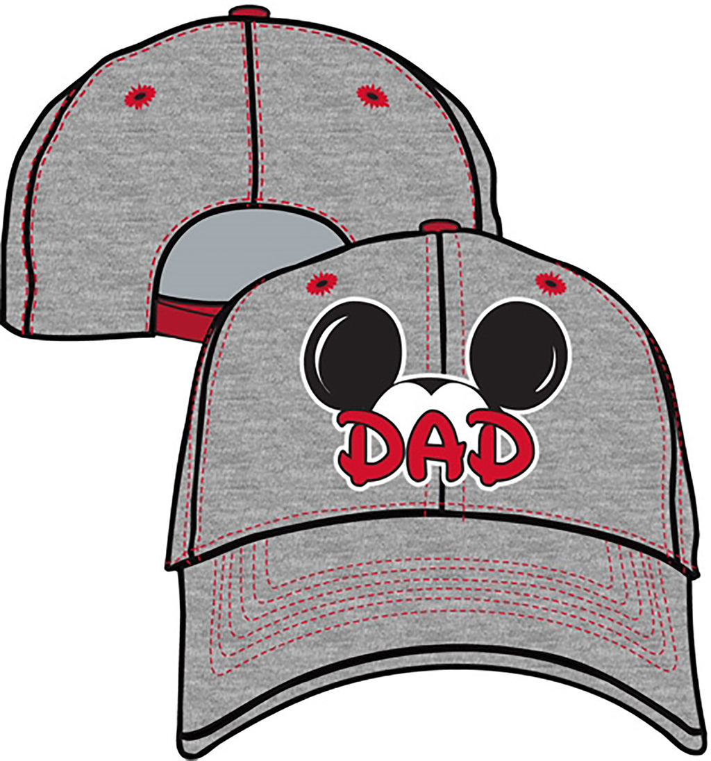 Disney Mickey Mouse Adult Dad Fan Baseball Snap Back Cap Hat - SHOPME.COM
