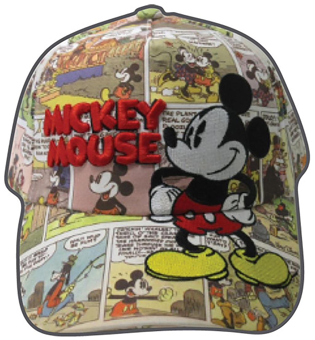 Disney Mickey Mouse Adult Comic Print Baseball Cap Hat - SHOPME.COM