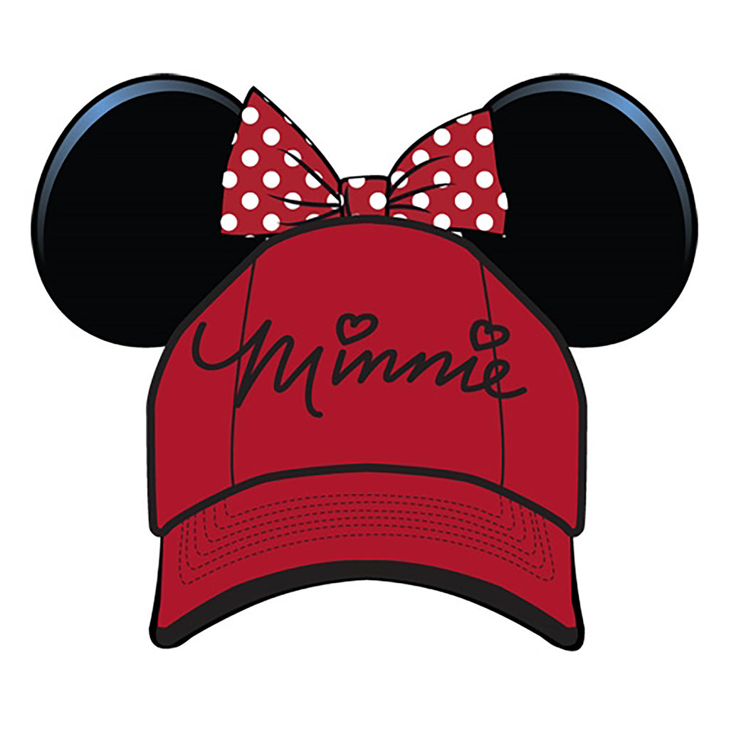 Disney Minnie Mouse Adult Sassy Ears Baseball Cap Hat - SHOPME.COM