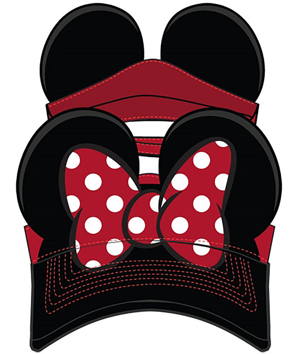 Disney Minnie Mouse Adult Ear Baseball Cap Hat Visor - SHOPME.COM