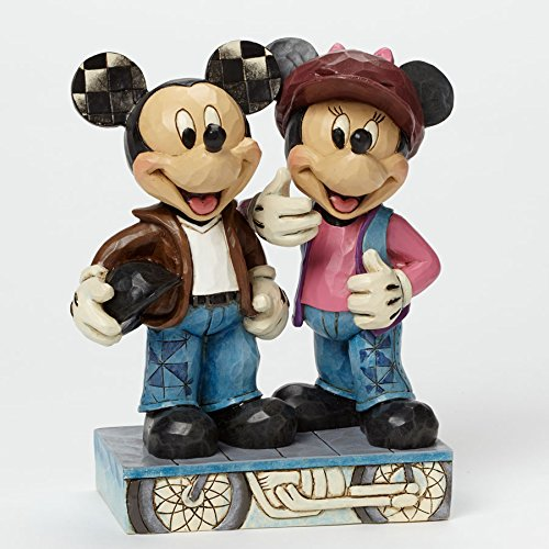 "Department 56 Disney Traditions by Jim Shore Biker Mickey and Minnie Figurine, 6.125"" - SHOPME.COM"