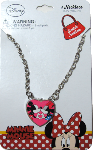 Disney Girls Mickey and Minnie Mouse Kiss Dress Up Jewelry - Chain Necklace - SHOPME.COM