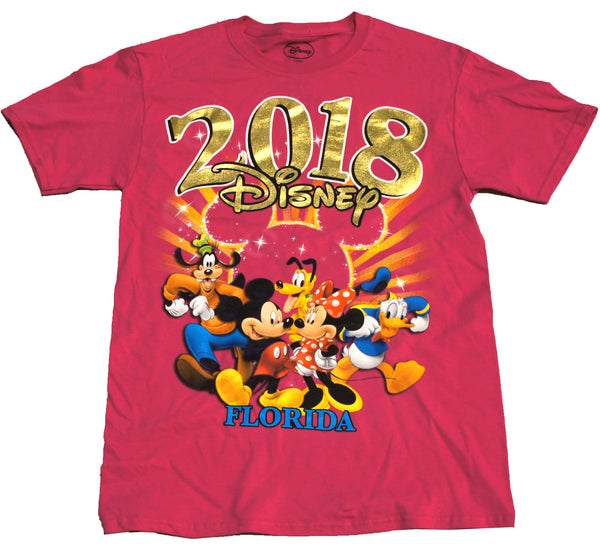 Disney Adult 2018 Mickey and Friends Florida Tee - SHOPME.COM