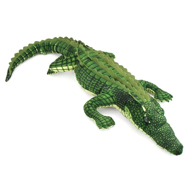 "Fiesta Toys Alligator Lifelike Plush Stuffed Animal, 41""/Large, Green - SHOPME.COM"