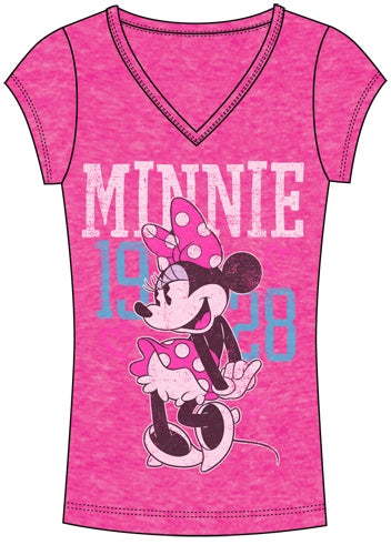 Disney Women's Stike a Pose Minnie T-Shirt - SHOPME.COM