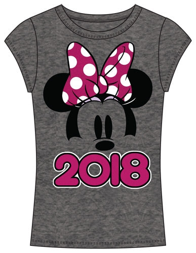 Disney Junior Fashion Top 2018 Minnie Show Fashion Top, Gray Pink - SHOPME.COM