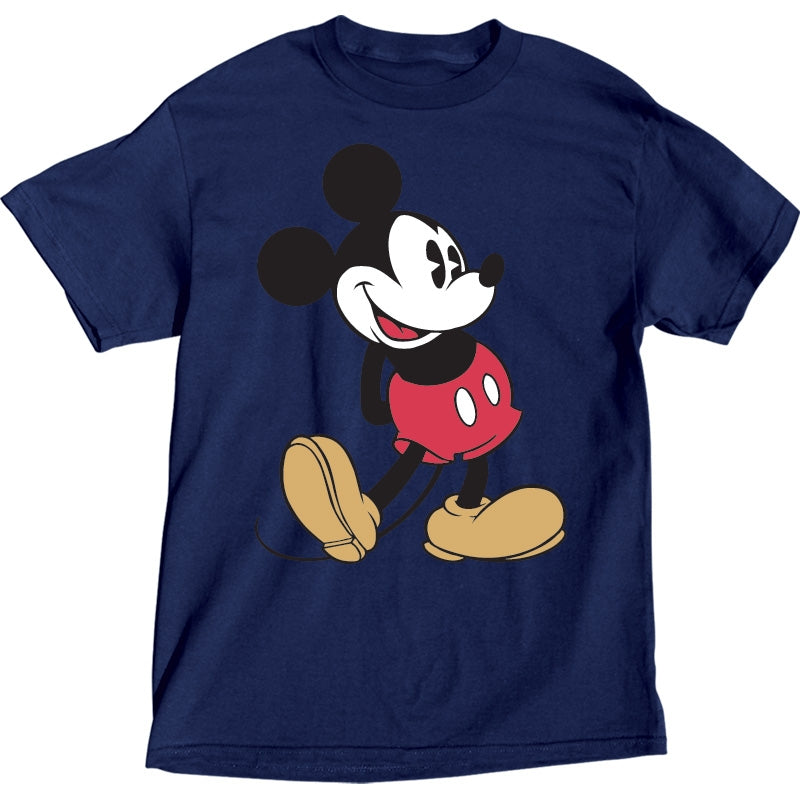 Disney Plus Size T-Shirt Mickey Head to Toe, Navy - SHOPME.COM