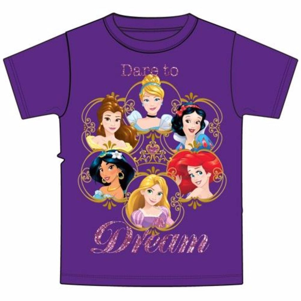 Disney Youth T-Shirt Princess Lingo Purple Dare To Dream - SHOPME.COM