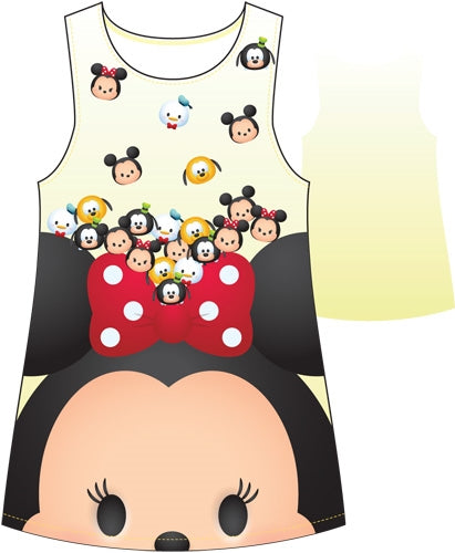 Disney Youth Girls Minnie Tsum Friends Sublimated Tank Dress, Yellow