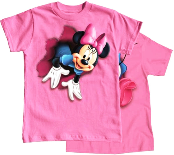 Disney Youth Girls T Shirt Pop Out Minnie, Pink