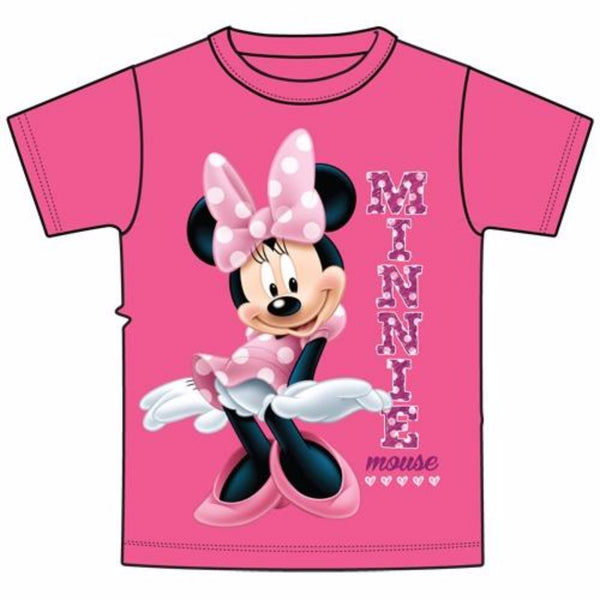 Disney Youth Girls T-Shirt Sassy Minnie Mouse, Pink
