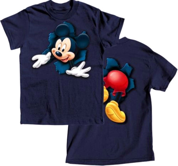 Disney Boys Short Sleeve T-Shirt Pop Out Mickey, Navy - SHOPME.COM