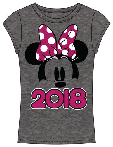 Disney Youth Fashion Top 2018 Minnie Show Fashion Top, Gray Pink - SHOPME.COM
