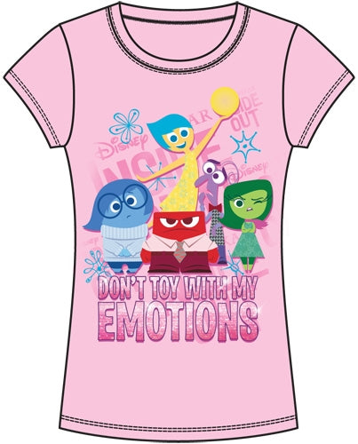 Disney Youth Girls Inside Out Group Joy Fashion Tee, Pink