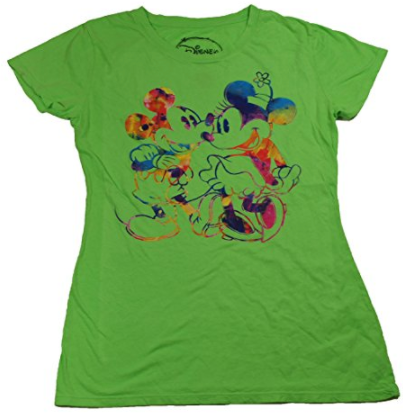 Disney Women's Mickey and Minnie Mouse T Shirt - SHOPME.COM