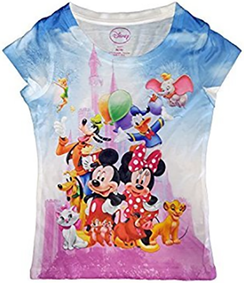 Mickey Mouse Minnie Mouse Donald Duck Goofy Pluto Tee T Shirt Youth Girls Fashion Top - SHOPME.COM