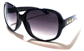 Fashion Adult Square Sunglasses (Black, Gradient Black)