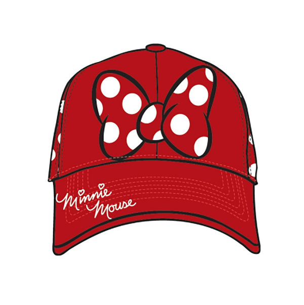 Disney Minnie Mouse Adult Minnie Dots Baseball Cap Hat - SHOPME.COM
