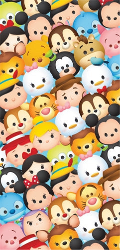 Disney Mickey Mouse Minnie Mouse Pinocchio Goofy Stitch Tsum Tsum Beach Towel - SHOPME.COM