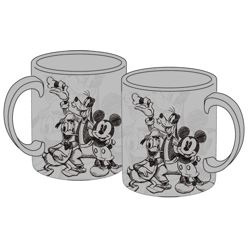 Disney Sketchy Mickey Group 11oz Mug