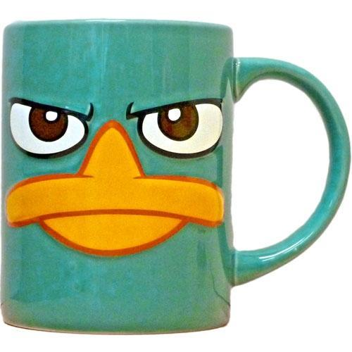 Agent Perry Full Face Relief 14oz Mug - SHOPME.COM