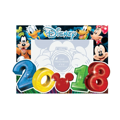 Disney 2018 Big Numbers Goofy Donald Mickey Minnie Pluto 4x6 Picture Frame - SHOPME.COM