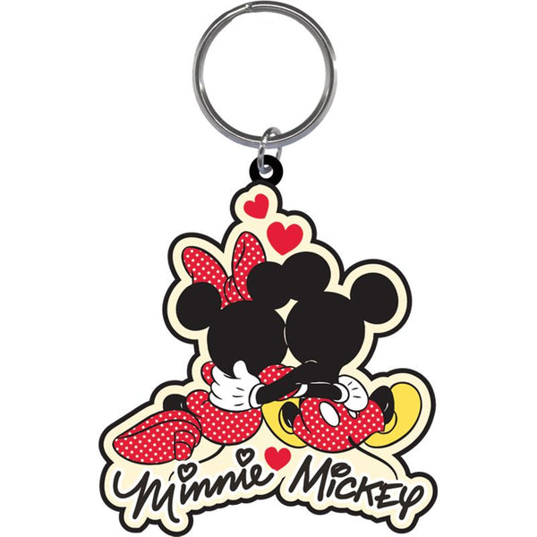 Disney Mickey & Minnie Cuddle - Lasercut Keychain - SHOPME.COM