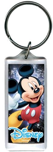 Disney Space Magic Mickey Mouse, Lucite Rectangle Keychain