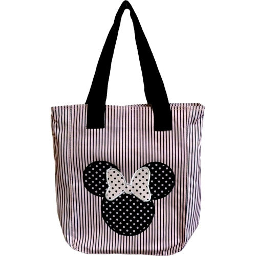 Disney Polka Dot Stripe Minnie Tote - SHOPME.COM