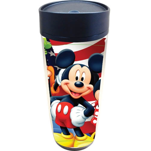 Disney USA Mickey Americana Travel Mug - SHOPME.COM