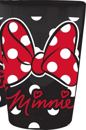Disney Minnie Mouse Bow Ceramic Collector Glass, Black Red - SHOPME.COM