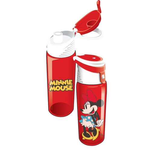 Disney Cute Minnie Mouse Flip Top Water Bottle - SHOPME.COM
