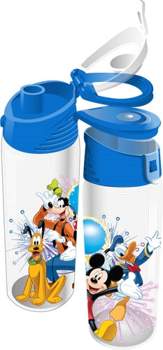Disney Fiver Group Mickey Minnie Goofy Donald Pluto Flip Top Bottle - SHOPME.COM