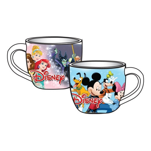Disney Cast Cafe Mug Princess Mickey Minnie Donald Daisy
