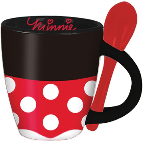 Disney Minnie Signature Dress Espresso Cup with Spoon - SHOPME.COM