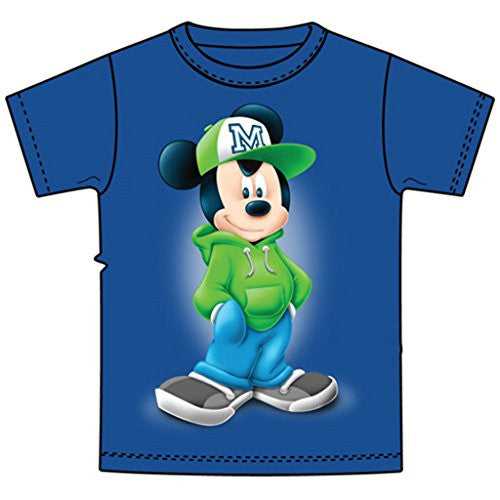 Disney Youth T-Shirt Mickey Attitude Royal Blue - SHOPME.COM