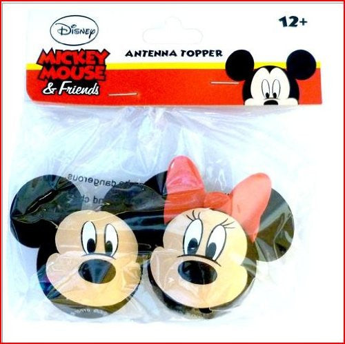 Mickey Mouse and Minnie Mouse Faces Antenna Toppers - SHOPME.COM