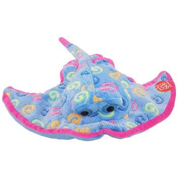 Fiesta Plush - Color Swirls - Sting Ray (Sea Blue - 18 Inch)