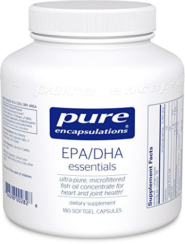 Pure Encapsulations - EPA/DHA Essentials - Ultra-Pure, Molecularly Distilled Fish Oil Concentrate - 180 Softgel Capsules - SHOPME.COM