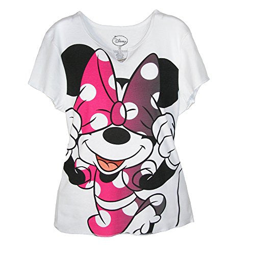 Disney Minnie Mouse Bow T Shirt, Large, Pink - SHOPME.COM