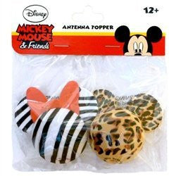 Minnie Mouse Zebra and Mickey Mouse Leopard Antenna Toppers - SHOPME.COM