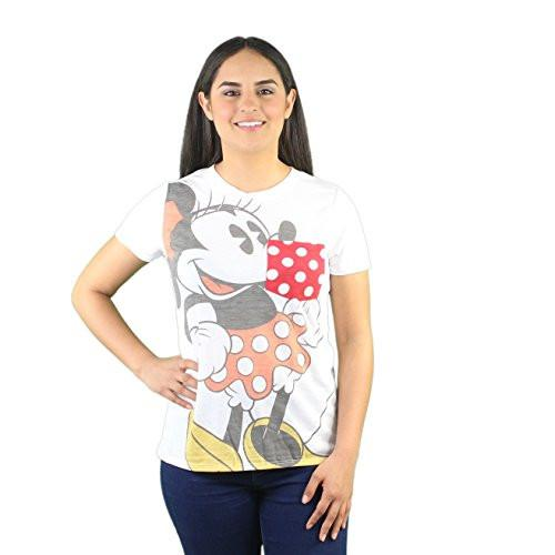 Disney Minnie Mouse Hey There Junior Girls Tee T Shirt Fashion Top - SHOPME.COM